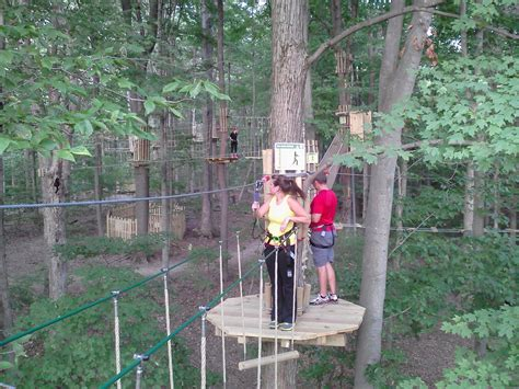 zipline ropes course at eagle creek park in indianapolis