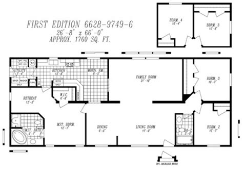 double wide mobile homes floor plans double wide home floorplans 171 floor plans