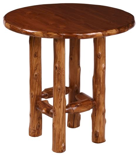 Rustic Bar Table Rustic Log Pub Table Set Minnesota Log Furniture The Log Furniture