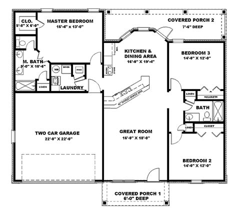 House Plans 1500 Sq Ft by 1400 To 1500 Sq Ft Ranch House Plans