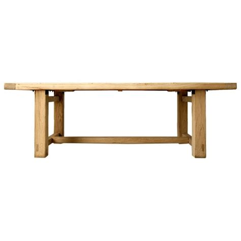 Bleached Dining Table Bleached Elm Wood Dining Table At 1stdibs