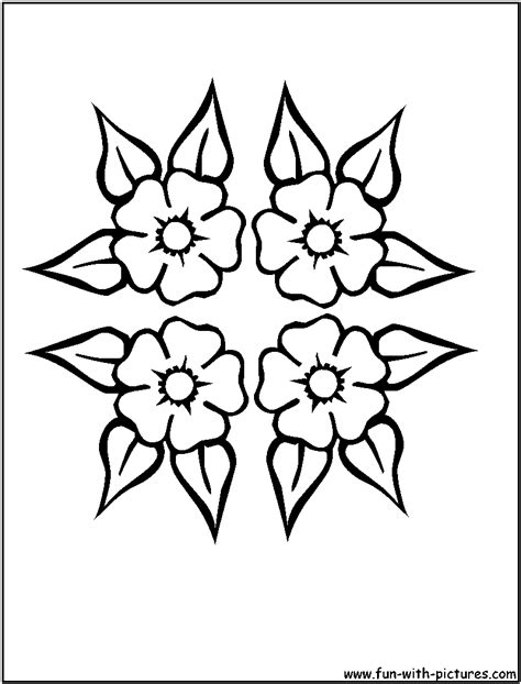 design flower coloring page free coloring pages of flower patterns