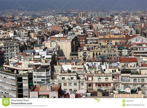 barcelona from above view on barcelona from above stock photos image 15379473