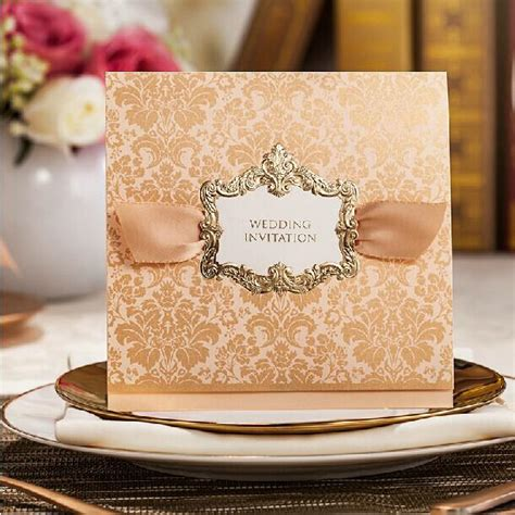 Wedding Invitation Design Classes by High Class Wedding Invitations 2014 Golden Flower