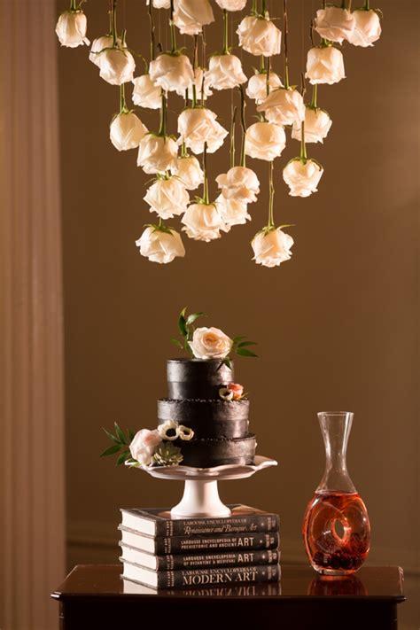 bold dramatic blush  black wedding ideas   detail
