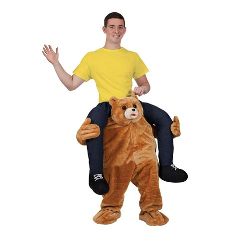 in teddy costume carry me teddy macot costume