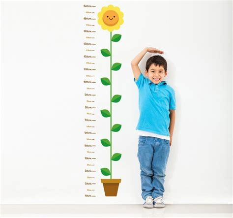 Height Chart Wall Stickers child flower height measurement wall sticker tenstickers