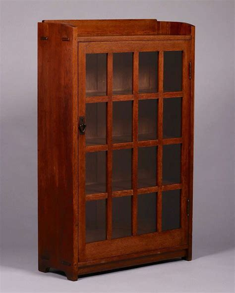 gustav stickley one door bookcase c1907 1910 california