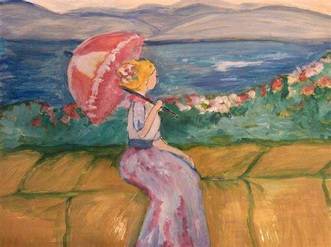 art dinca on the beach painting by farfallina art gabriela dinca