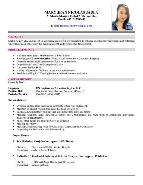 sle resume objectives for ojt accounting students mhary cv