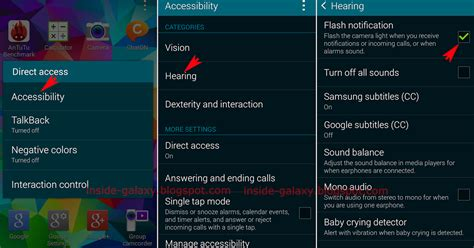 flash notification android samsung galaxy s5 how to enable or disable flash notification in android 4 4 2 kitkat