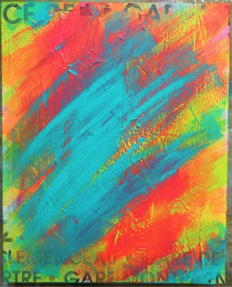layering acrylic paint on canvas mixed media canvas quot be brave quot