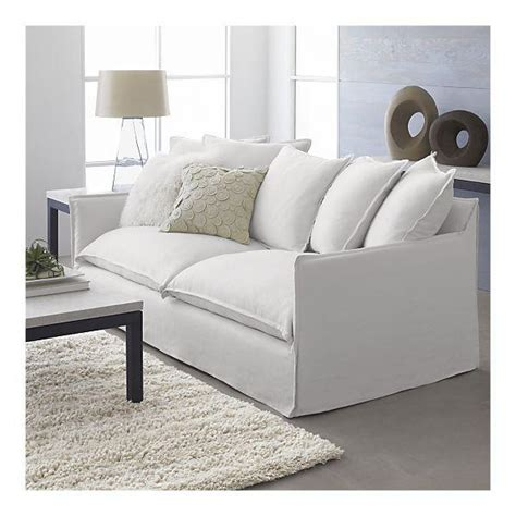 white slipcovered sofa slipcover for oasis sofa crate barrel
