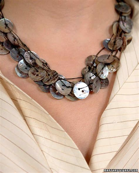 make handmade jewelry handmade button jewelry martha stewart
