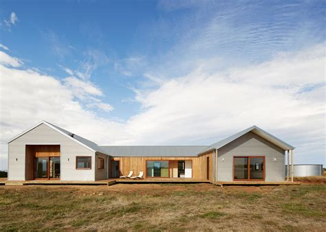 shed homes corrugated steel provides durable facade for house by glow