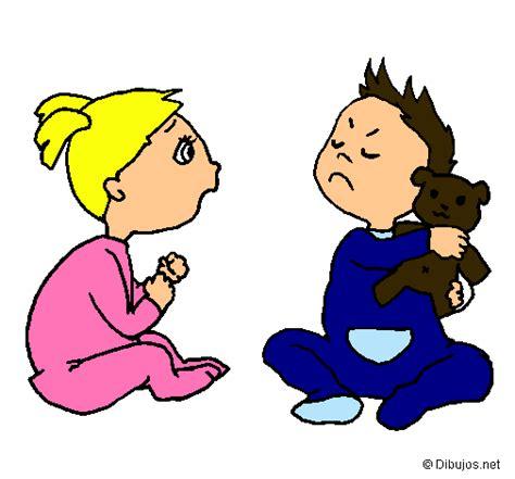 imagenes niños peleando para colorear imagenes ni 241 os peleando para colorear imagui