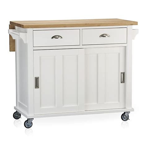 belmont white kitchen island in kitchen islands amp carts crate and barrel