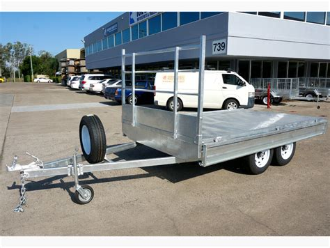 boat trailer dual axle trailers flat top bed tandem dual axle trailer brisbane