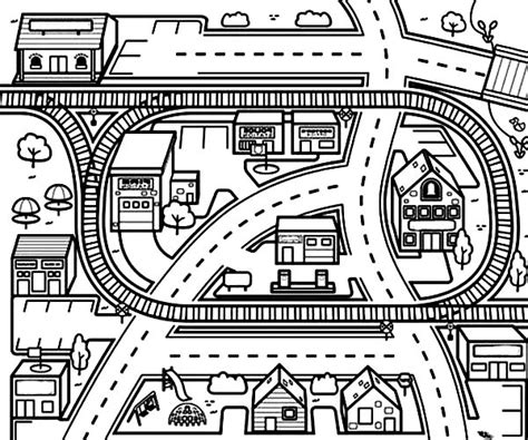 town map coloring page 9 images of city scene coloring page city coloring pages