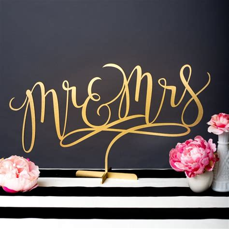 wedding sign mr and mrs table sign joyful collection