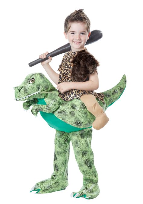 dinosaur costume child ride a dinosaur costume