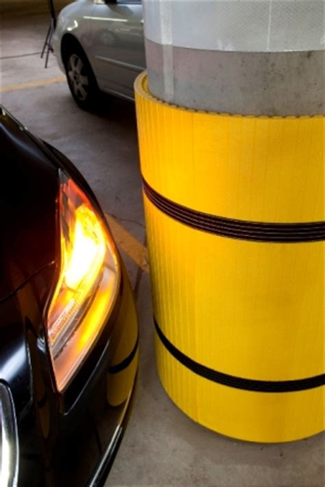 Parking Garage Column Protection by Park Sentry Column Protection Parking Padding