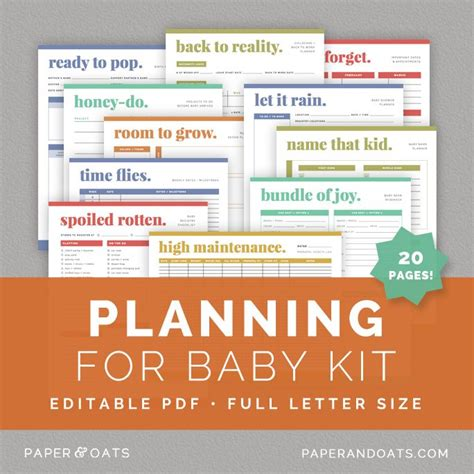 printable pregnancy to do list planning for baby kit paper oats editable printable