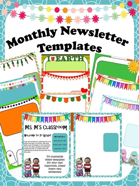 inspirational of first grade newsletter template weekly templates