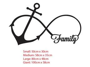 Anchor Infinity Family Anchor Infinity Symbol Wall Sticker