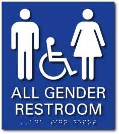 Bathroom Signs Gender All Gender Accessible Restroom Tactile Braille Ada Signs