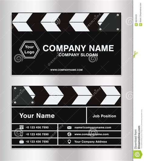 filmmaker business cards templates simple clapperboard theme business name card template for