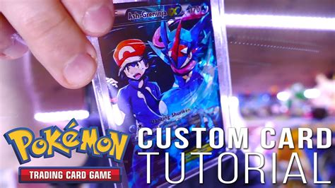 how to make a ex card how to make a custom card ash