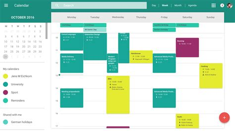 material design html editor redesign of google s web calendar material design on behance