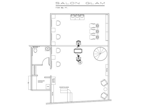 salon floor plans salon and spa blueprints layouts joy studio design