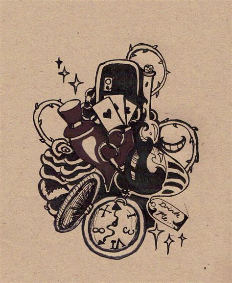 tattoo designs alice in wonderland in design 2 by hardy in on