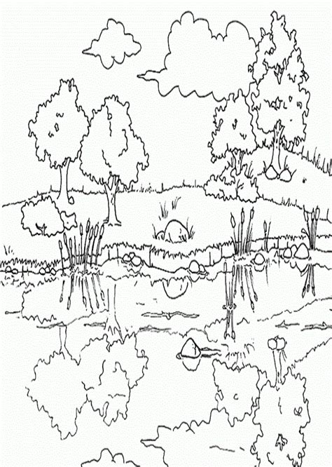imagenes de paisajes hermosos para colorear paisajes para colorear dibujos para colorear