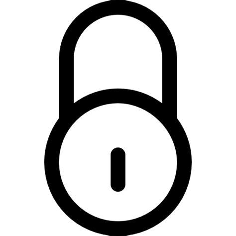 Kunci Gembok Besar Kunci Lingkaran Gembok Garis Besar Alat Simbol Ikon