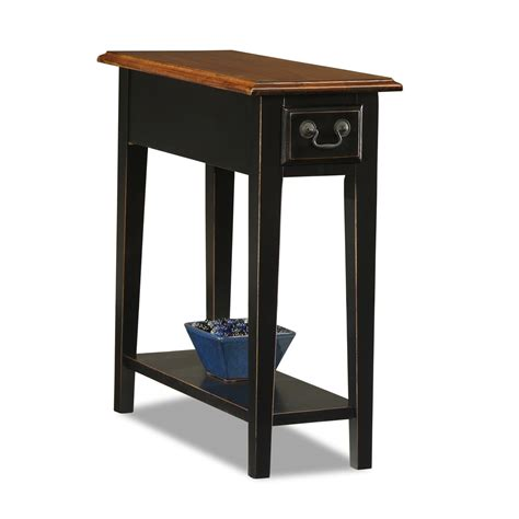 Small Chair Side Table Leick Chairside Small End Table Slate Finish