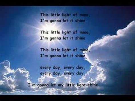 this light of mine lyrics gospel this light of mine