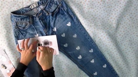 como decorar un jeans con piedras decora tus jeans diy valentines day youtube