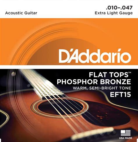 d addario ej16 phosphor bronze light acoustic guitar strings d addario eft flat top phosphor bronze acoustic guitar strings