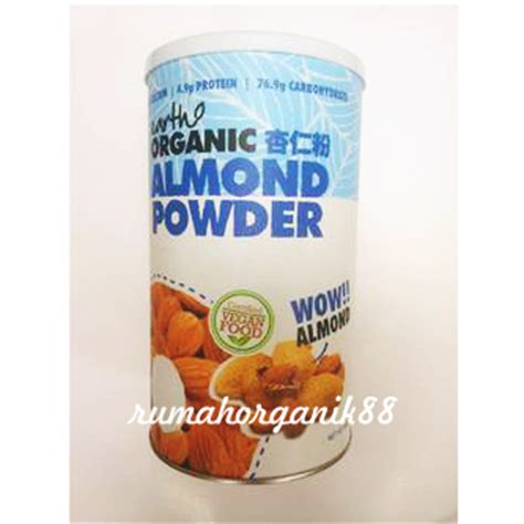 Almond Powder Organic by Organic Almond Powder By Earth Organic 500gr Rumah