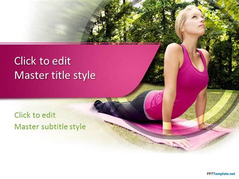 Free Abstract Green Ppt Template Free Fitness Powerpoint Templates