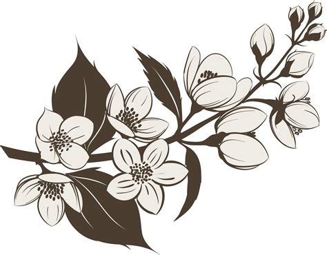 jasmine flower tattoo design flower