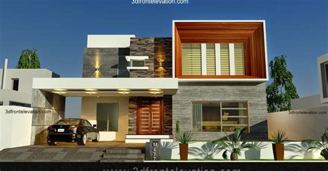 home design 2014 3d front elevation com new 1 kanal contemporary house