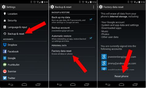reset android keep data how to perform a factory data reset android 101