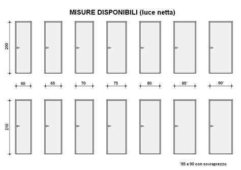 porte interne misure standard porte interne cieche 2 finit bianco e rovere sbiancato