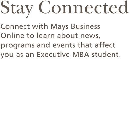 Executive Mba Programs In Houston by Executive Mba Mays Business School S Vision Is To