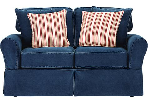cindy crawford beachside sofa cindy crawford home beachside blue denim sofa home
