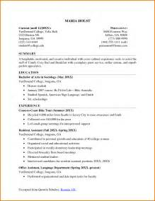 Current College Student Resume Sle by Current College Student Resume Berathen